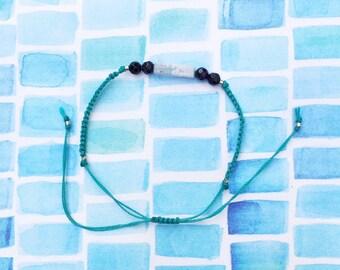 Semi-precious machrame friendship bracelet