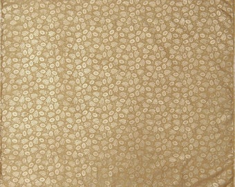 """Floral Printed Rubber Jacquard Fabric, Beige Fabric, Home Decor, Apparel Fabric, 44"""" Inch Brocade Fabric By The Yard ZB254A"""