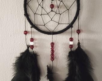 "Red & Black Dreamcatcher   ""OBSIDIAN SORCERESS""  "
