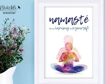 "A4 print / mural / poster ""Namaste"" for all Yoga lovers"