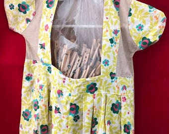 Vintage clothes pin bag dress.