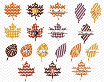Fall Leaves Patterns SVG DXF PNG eps Autumn leafs thanksgiving Cut File for Cricut Design, Silhouette studio, Sure A Lot, Makes the Cut