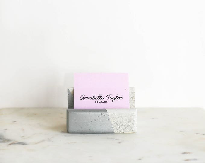 Business Card Holder: Silver