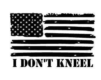 I Don't Kneel American Flag Decal with FREE SHIPPING