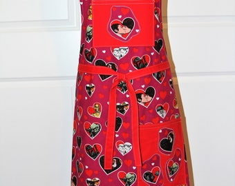 Star Wars Ladies/Mans Valentines Apron with Good vs Evil all in heart shapes