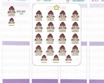 Mimi Hand Drawn | Track Happy Mail |Planner Stickers