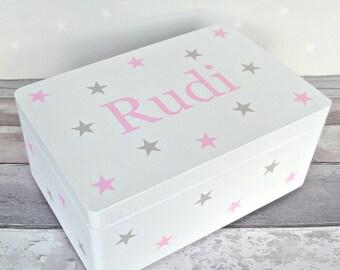 Memory Box - Baby Keepsake Box - Personalised Storage - Christening Box - Baby Memory Box - Wooden Keepsake Box - New Baby - First Birthday