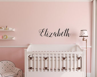 Name Wall Decal, Custom Nursery Wall Decorations, Baby Room Stickers, Sticker  Wall Art