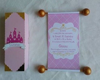 Parchment Princess theme invitation