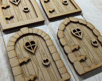 MDF mini fairy door kit ready to decorate 4 designs to choose from