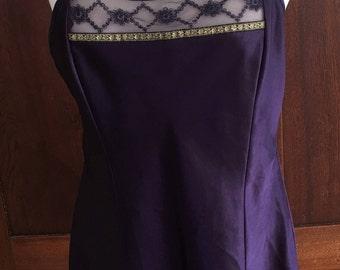 M / Purple Chemise Slip Dress / Medium