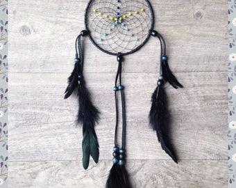 native american black dreamcatcher handmade star design