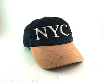 Vintage New York NYC  Embroidery Dad Hat // 90s snapback Hat // Two Tone Baseball Cap // Low Profile