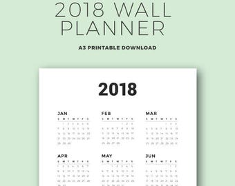 2018 Wall Planner