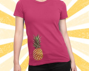 Trending Pineapple Shirt - Tropical - Cute - Pineapple print tshirt - Tumblr - Printed Graphic Tee - Women's and Men's - Summer -