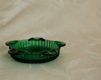 Fire King Forest Green Ashtray