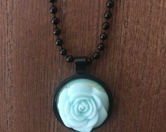 Mint Rose Pendant and Necklace