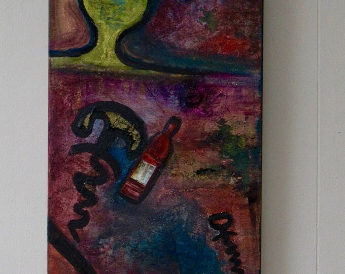 "Abstract Mixed Media Painting ""Uncorked"""