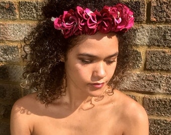 Purple Hydrangea Flower Crown. Festival / Bridal Headdress / Headband