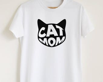 Cat mom shirt, funny cat owner gift T-shirt, women's unisex cat mom t shirt, stylish pet owner tee