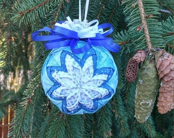Blue Snowflake 3D Ornament
