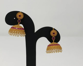Temple Jewelry - Temple Earrings - Temple Jhumka Earrings - Jhumki Jhumka Earrings - Indian Earrings - Bollywood Earrings - Indian Bridal