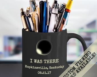 Solar Eclipse Mug, Total Solar Eclipse 2017, Total Eclipse, Personalized Eclipse, Kentucky Eclipse, Hopkinsville Eclipse, Eclipseville