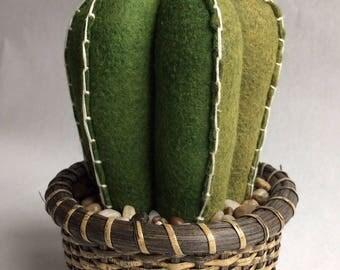 Wool Felt Barrel Cactus