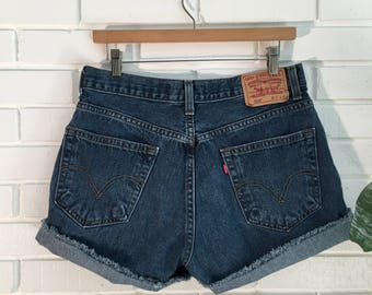 "LEVI'S 32"" High Waisted Vintage Cutoffs"