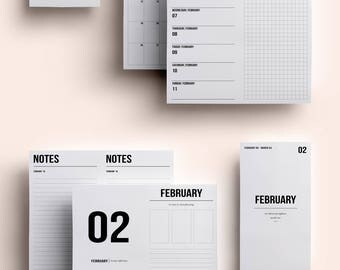 Standard TN Insert | Standard TN Printable | Standard TN Printable Insert | Standard Daily Insert - February 2018