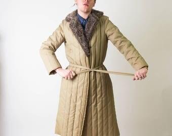 Puffy Belted Vintage Coat