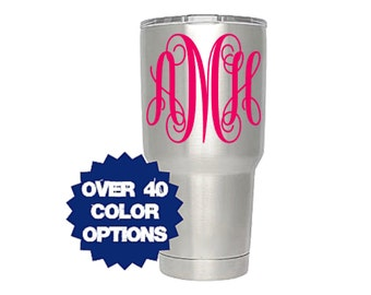 Monogram Decal, Yeti Monogram Decal, Tumbler Monogram, Cup Monogram, Monogram Sticker, Monogrammed Decal, Monogram For Women, Girl Monogram