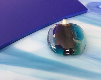 Glass-fusing glass pendant-jewelry-gift woman-gift women-pendant-necklace-pendant-necklace-dutch design-transparent glass-Italian Baoliglas