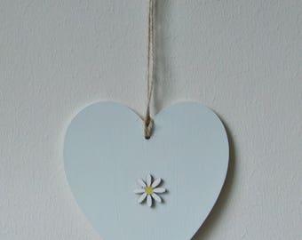 Wooden Hanging Heart.
