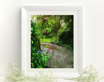 Landscape photography 8x10 farmhouse decor Art print Cottage style Kitchen art Cottage chic decor Landscape photo Home interior art decor