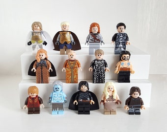 Game of Thrones Minifigures or Keyrings Universal Fit Jon Snow  Daenerys Tyrion White Walker Arya Birthday Christmas Topper Gift Stocking