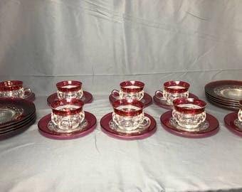 Complete Set Kings Crown Glassware