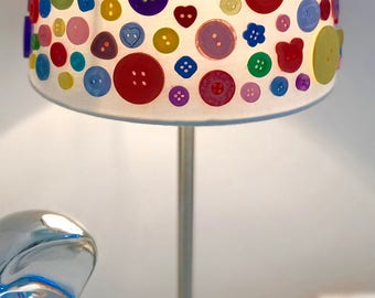 Handmade Vintage Button Lamp / Touch Lamp