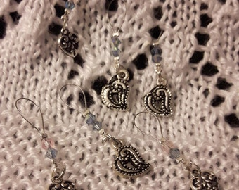 Set of stitch markers - heart (6)
