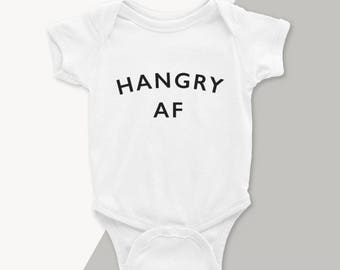 Hangry AF Baby Onesie - Newborn Outfit - Newborn Baby Boy Onesie - Baby Shower Gift - Coming Home Outfit - Hangry AF Bodysuit