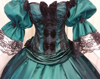 Halloween ball gown, Victorian ballgown, alternative wedding dress, fairytale gown, Scarlett O'hara, costume ball, Marie antoinette
