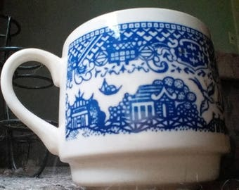 Vintage Replacement Cup Blue Willow