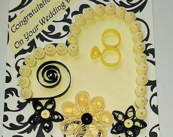 Congratulations On Your Wedding Quilled Card