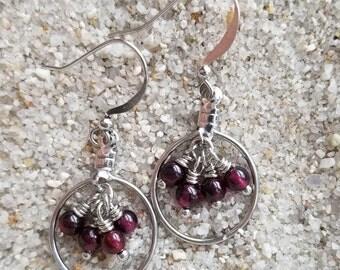 Garnet Earrings | January Birthstone Jewelry