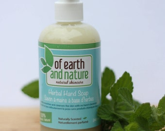 Herbal Hand Soap | Liquid Castile Soap, Olive Oil, Essential Oils