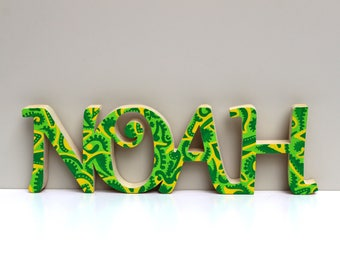 Typo decor and original wooden names personalized