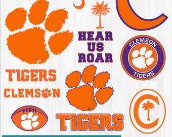 INSTANT DOWNLOAD_Clemson Tigers svg dfx jpg jpeg eps layered cut cutting files cricut silhouette die cut decal vinyl