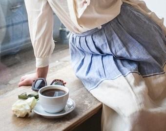 Skirt 100%  linen