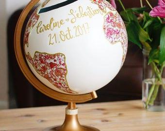 Urn wedding world globe