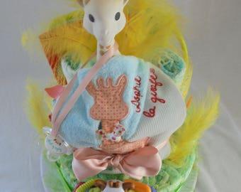 Diaper cake Sophie the giraffe